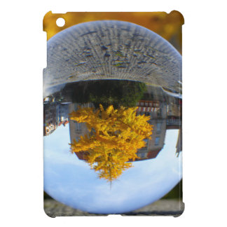 Colors of Autumn Gingko tree, crystal ball Case For The iPad Mini