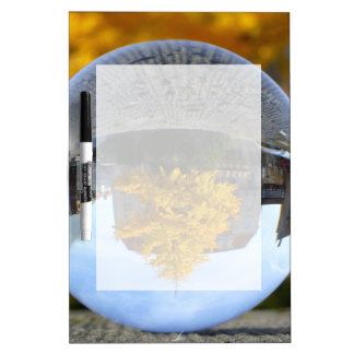 Colors of Autumn Gingko tree, crystal ball Dry-Erase Board