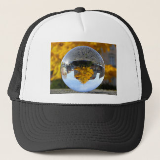 Colors of Autumn Gingko tree, crystal ball Trucker Hat