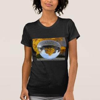 Colors of Autumn Gingko tree, crystal ball T Shirts