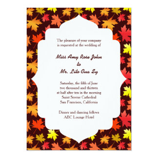 Colors of Autumn Wedding Card