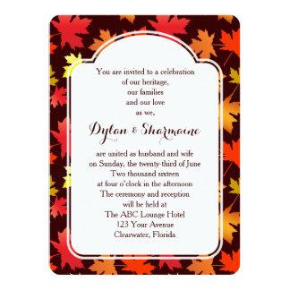 Colors of Autumn Wedding Invitation