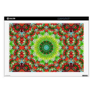 "Colors of Christmas Abstract 17"" Laptop Skins"
