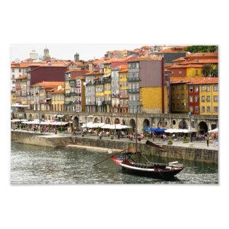 Colors of city port in Porto Portugal Photographic Print