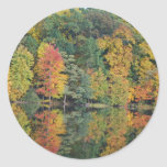 Colors Of Fall Round Stickers