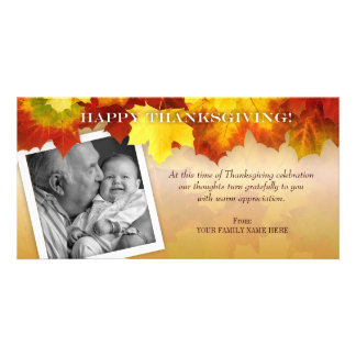Colors of Fall Thanksgiving Photo Card Template