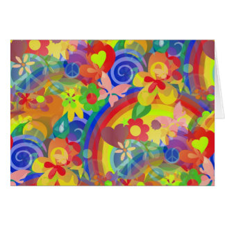 Colors Of Flower Power Card