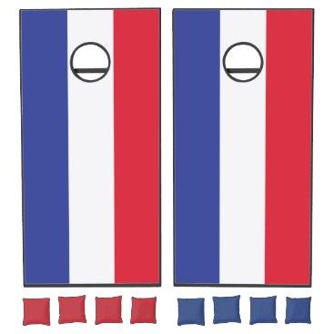 produkto Colors of France Flag. Add Your Name. Cornhole Set