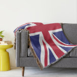 Colors of Great Britain Flag. Throw Blanket