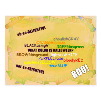 Colors of Halloween Postcard