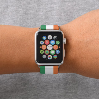 Colors of Ireland Flag. Apple Watch Band