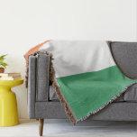 Colors of Ireland Flag. Throw Blanket