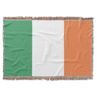 Colors of Ireland Flag. Throw Blanket