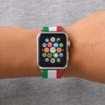 "Colors of Italy Flag. Apple Watch Band<br><div class=""desc"">Wikipedia: &quot;The flag of Italy is a tricolour featuring three equally sized vertical pales of green,  white and red,  with the green at the hoist side. Its current form has been in use since 18 June 1946 and was formally adopted on 1 January 1948.&quot;