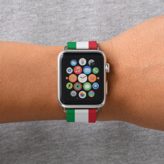 Colors of Italy Flag. Apple Watch Band
