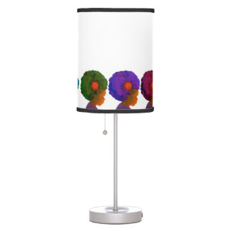 Colors of Life 4 Silhouette Girls with Afro Table Lamp