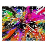 Colors of Life Abstract Grafitti Art Poster by KEB