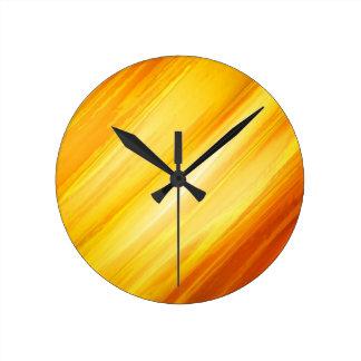 Colors of light round clock
