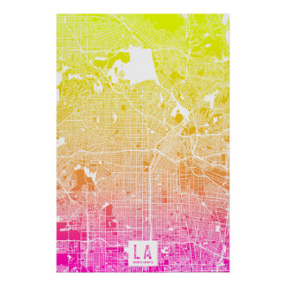 Colors of Los Angeles Map Poster