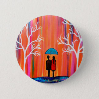 Colors of Love colorful romantic painting giftart Pinback Button