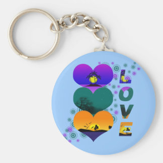 Colors of Love Keychain