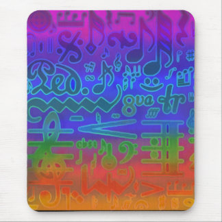 Colors of Music Symbols Mousepad