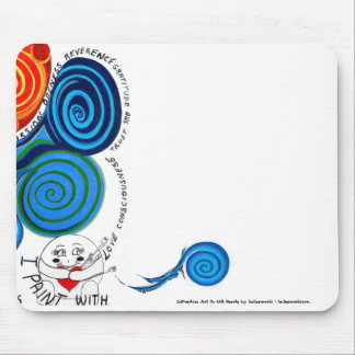 Colors Of My Heart-Positive Uplifting Art n Words Mouse Pad
