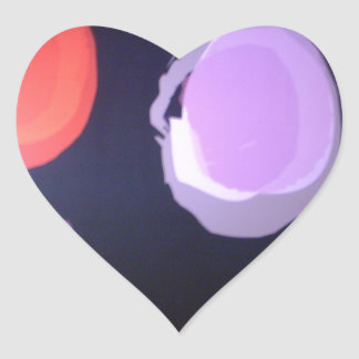 Colors of my life Big polkadot.JPG Heart Sticker