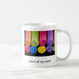 color's of my mind coffee mug