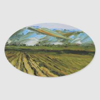 Colors of Napa Valley, Wine Country California Oval Sticker