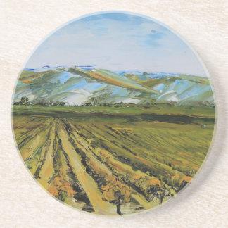Colors of Napa Valley, Wine Country California Sandstone Coaster