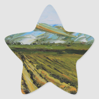 Colors of Napa Valley, Wine Country California Star Sticker