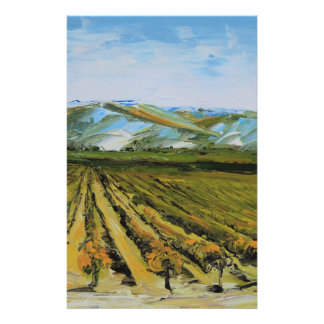 Colors of Napa Valley, Wine Country California Stationery
