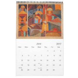 Colors of Paul Klee Abstract Drawing Calendar