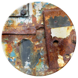 Colors OF Rust/KIND OF RUST Porcelain Plate