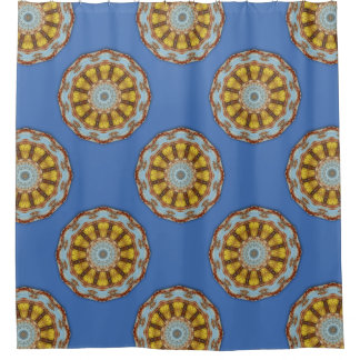 colors of rust mandala style shower curtain - Rust Color Curtains