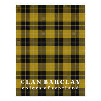 Colors of Scotland Clan Barclay Tartan Postcard