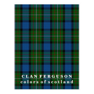 Colors of Scotland Clan Ferguson Tartan Postcard