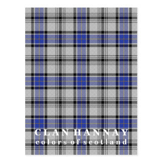 Colors of Scotland Clan Hannay Tartan Postcard