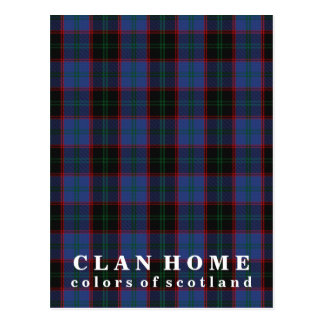 Colors of Scotland Clan Home Tartan Postcard