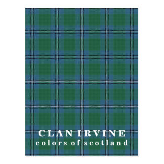 Colors of Scotland Clan Irvine Tartan Postcard