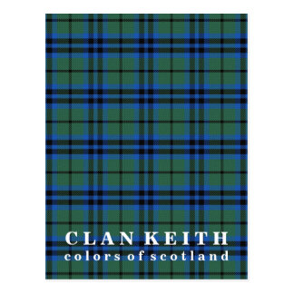 Colors of Scotland Clan Keith Tartan Postcard