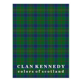 Colors of Scotland Clan Kennedy Tartan Postcard