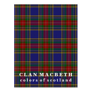 Colors of Scotland Clan MacBeth Tartan Postcard