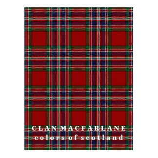 Colors of Scotland Clan MacFarlane Tartan Postcard