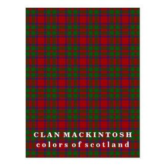 Colors of Scotland Clan MacKintosh Tartan Postcard