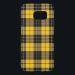 "Colors of Scotland Clan MacLeod Tartan Plaid Samsung Galaxy S7 Case<br><div class=""desc"">Amazing Colors of Scotland phone case featuring the great Scottish Clan MacLeod of Lewis yellow and black  tartan plaid.</div>"