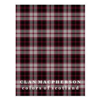 Colors of Scotland Clan MacPherson Tartan Postcard