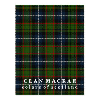 Colors of Scotland Clan MacRae Tartan Postcard