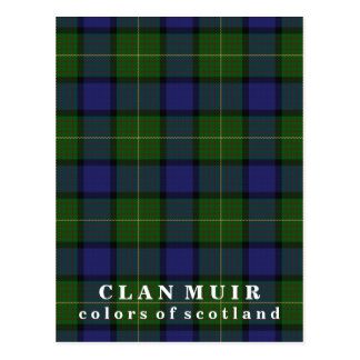 Colors of Scotland Clan Muir Tartan Postcard